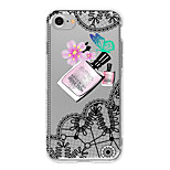 For Translucent Case Back Cover Case Lace Printing Sexy Lady Soft TPU for Apple iPhone 7 Plus iPhone 7 iPhone 6s Plus iPhone 6 Plus