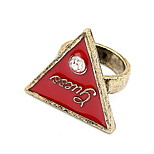 Han Edition Fashion Bright Drill Letters Triangle Ring