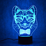 Christmas Cat Turtles Touch Dimming 3D LED Night Light 7Colorful Decoration Atmosphere Lamp Novelty Lighting Christmas Light