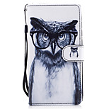For Huawei P8 Lite (2017) P9 Lite Case Cover Owl Pattern Painted Card Stent PU Material Phone Case Mate 9 Honor 5C Honor 8 Honor 7