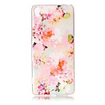 For Sony Xperia XZ Premium XA Case Cover Flower Pattern Painted Relief High Penetration TPU Material Phone Case XA1 E5