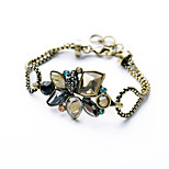 Women's Chain Bracelet Jewelry Vintage Alloy Flower Rainbow Jewelry For Special Occasion Birthday Christmas Gifts 1pc