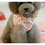 Pettorine Guinzagli Sicurezza Addestramento Fiore decorativo Cuoio Rosa