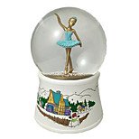 Music Box Sphere Holiday Supplies Resin Unisex