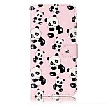 For iPhone 7 Plus 7 Panda Pattern Varnishing Process Embossed PU Leather Material Phone Case 6S Plus 6S 6 5S SE 5