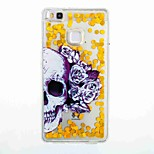 For Huawei P9 Lite Huawei P8 Lite Flowing Liquid Pattern Case Back Cover Case Skull Soft TPU