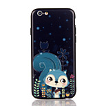 For Apple iPhone 7 7 Plus iPhone 6s 6 Plus Case Cover The Squirrel Pattern 3D Relief Plastic Back Shell TPU Frame Cases