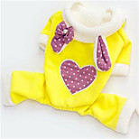 Dog Clothes/Jumpsuit Dog Clothes Cute Hearts Yellow Fuchsia Blue Blushing Pink