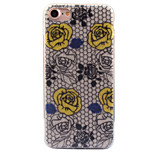 For Apple iPhone 7 7 Plus 6S 6 Plus Case Cover Roses Pattern Acrylic Backplane TPU Frame Flash Powder Phone Case