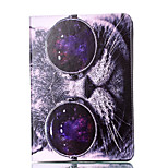 For Apple iPad 4 3 2 Case Cover Cat Pattern Card Stent PU Material Flat Protection Shell