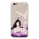Girl Pattern TPU Material Rhinestone Glow in the Dark Soft Phone Case for iPhone 7 7Plus 6S Plus 6 5 SE