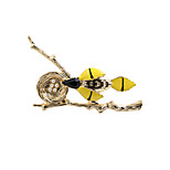 Fashion Trendy Cute Enamel Branch and Nest Brooch