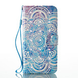 For Huawei P8 Lite (2017) P9 Lite Card Holder Wallet Pattern Case Full Body Case Mandala Hard PU Leather