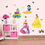 Snow White Cartoon Butterfly Wall Stickers Kindergarten Children's Wall Stickers