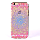For IMD Transparent Case Back Cover Case  Mandala Soft TPU for iPhone 7 Plus 7 6s Plus 6 Plus  6s  6 SE 5S 5