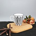 minimalismo Fiesta Artículos para Bebida, 250 ml El modelo geométrico simple Reutilizable Porcelaine Té Marrón CaféVajilla de Uso