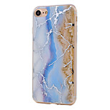 For Double Layer IMD Plating Texture Marble Pattern Acrylic and TPU Combo Phone Case for iPhone 7 Plus 7 6S Plus 6S 6