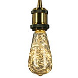 1pcs E27 ST64 Star Light 3W LED Filament Bulbs Christmas String Lights Decorative Holiday Lights for Hone and Hotel Copper Wire AC220-240V