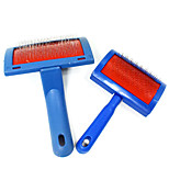 Fashion Hot Sales New Styles Utility Multifunction Pet Brush Stainless Steel Needle Comb Blue Practical Cat Dog Comb