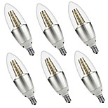 5W E14 LED Candle Lights C35 35 SMD 3528 500 lm Warm White White Decorative AC 220-240 AC 110-130 V 6 pcs