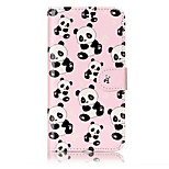 For Huawei P10 Lite P8 Lite (2017) PU Leather Material Panda Pattern Relief Phone Case P10 Plus P10 P9 Lite P8 Lite