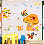Animals Cartoon mushroom House Fashion Wall Stickers Plane Wall Stickers Children's Room Decorative Wall Stickers Home Decoration Wall Decal