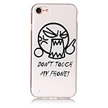 For IMD Embossed Case Back Cover Case Cartoon Word Phrase Soft TPU for iPhone 7 Plus 7 6s Plus 6 Plus  6s  6 SE 5S 5