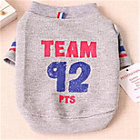 Dog Shirt / T-Shirt Dog Clothes Casual/Daily Letter & Number White Gray