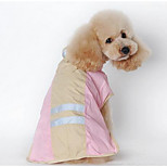Dog Rain Coat Dog Clothes Winter Summer Spring/Fall Stripe Cute Blushing Pink Blue