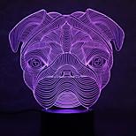 크리스마스 불독 거북이 터치 디밍 3d LED가 밤 빛 7colorful 장식 분위기 램프 참신 조명 크리스마스 빛