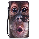 For Huawei P8 Lite (2017) P9 Lite Case Cover Monkey Pattern Painted Card Stent PU Material Phone Case Mate 9 Honor 5C Honor 8 Honor 7