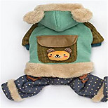 Dog Clothes/Jumpsuit Dog Clothes Winter Cartoon Casual/Daily