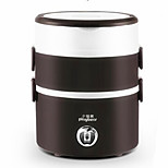 Three Layers Of Mini Rice Cooker Cooking Stainless Steel Electric Heating Lunch Box