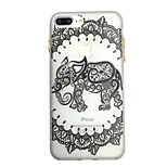 For Glow in the Dark Pattern Case Back Cover Case Elephant Soft TPU for iPhone7 7plus 6 6Splus 5 5S