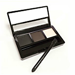 3 Colors Optional Eyebrow Powder Palette Makeup Shading With Brush Mirror Box Eye Brow High Quality