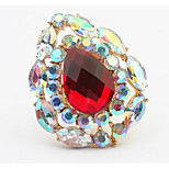 Euramerican Luxury Droplets Great Rhinestone Rings Women's Party Cuff Ring Jewelry Gifts