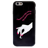 For Apple iPhone 7 7 Plus 6S 6 Plus Case Cover Beautiful Hand Pattern Crystal Relief Acrylic Backplane TPU Frame Combo Phone Case