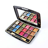 1Pcs Makeup Set Palette 18 Color Glitter Eyeshadow Highlighter Eye Shadow Make Up With Brush & Mirror