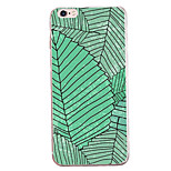 For Apple iPhone 7 7 Plus 6S 6 Plus Case Cover Green Leaves Pattern Painted High Penetration TPU Material Soft Case Phone Case
