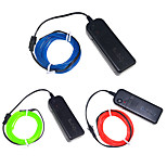 YouOKLight 3PCS 3M Blue/Red/Green 4 Modes Flexible Neon EL Wire Light Dance Party Decor Light