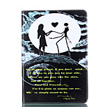 For Apple iPad 4 3 2 Case Cover Dancing Pattern Card Stent PU Material Flat Protection Shell