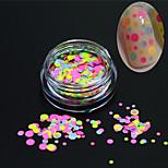 1bottle moda clavo arte glitter redonda paillette decoración uñas arte diy belleza colorido redonda rebanada p29