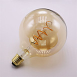 4W E27 Lâmpadas de Filamento de LED G125 1 COB 400 lm Branco Quente Decorativa Regulável AC 220-240 V 1 pç
