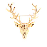 Women's Boys Other Brooches Animal Design Euramerican Personalized Gold Plated Alloy Deer Shape Silver Gold Jewelry For Daily Casual