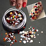 1Bottle Sweet Color Fashion Nail Art Mixed Size Colorful Laser Round Slice Glitter Paillette Slice Decoration P13