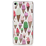 For Sony Xperia XA M2 Case Cover Ice Cream Pattern Painted High Penetration TPU Material IMD Process Soft Case Phone Case