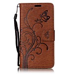 For Sony Xperia XA E5 Butterfly and Flower Embossed Pattern PU Leather Material Wallet Function Phone Case