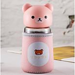 320ml mini cómodo de vidrio de viaje de dibujos animados botella de agua drinkware
