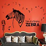 Animales Música De moda Pegatinas de pared Calcomanías de Aviones para Pared Calcomanías Decorativas de Pared,Papel MaterialDecoración