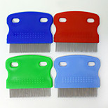 Pet Supplies four-color flea dog comb Stainless steel short needle combs Dog brush to get rid of lice Wholesale sales